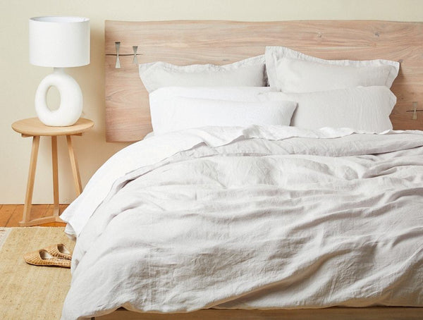 Fog Organic Relaxed Linen Bedding by Coyuchi | Fig Linens