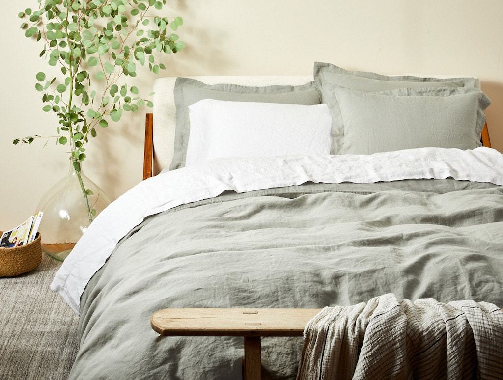 Laurel Organic Relaxed Linen Bedding By Coyuchi Fig Linens
