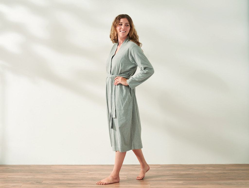 Solstice Heather Gray Organic Relaxed Robe by Coyuchi