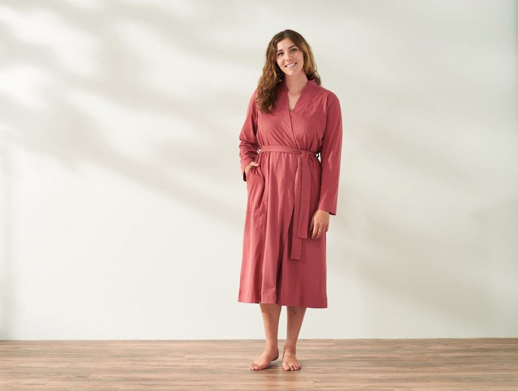 Solstice Rosehip Organic Relaxed Robe by Coyuchi