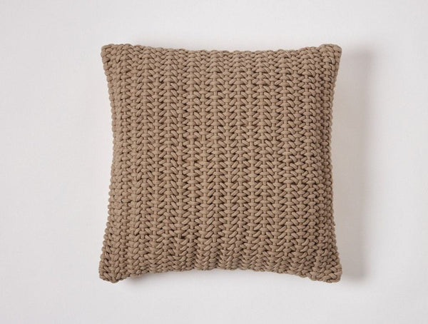Taupe Woven Rope Decorative Pillow by Coyuchi | Fig Linens