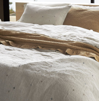 Fig Linens - Scattered Embroidered Organic Bedding by Coyuchi