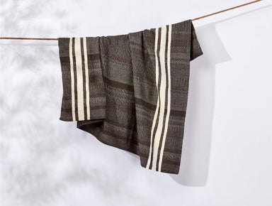 Cirrus Espresso Brown Throw Blanket by Coyuchi | Fig Linens and Home