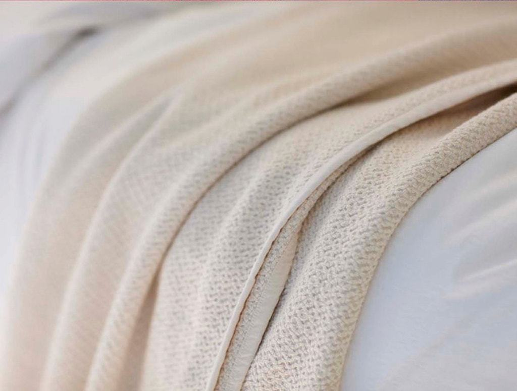 Fig Linens - Ivory Honeycomb Organic Blanket by Coyuchi - 100% Cotton