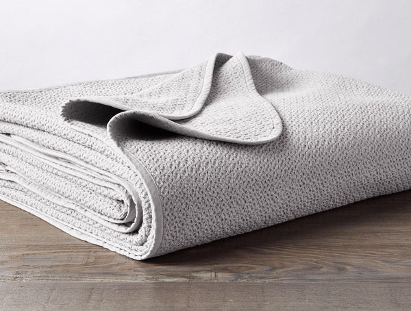 Pewter Honeycomb Organic Blanket by Coyuchi | Fig Linens