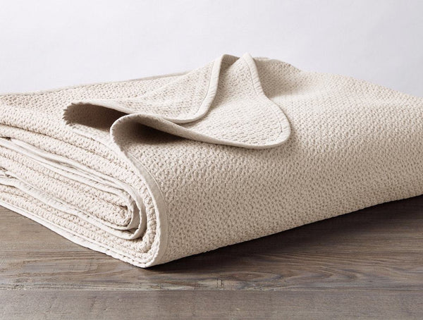 Ivory Honeycomb Organic Blanket by Coyuchi | Fig Linens