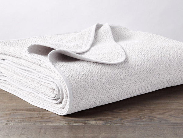 White Honeycomb Organic Blanket by Coyuchi | Fig Linens