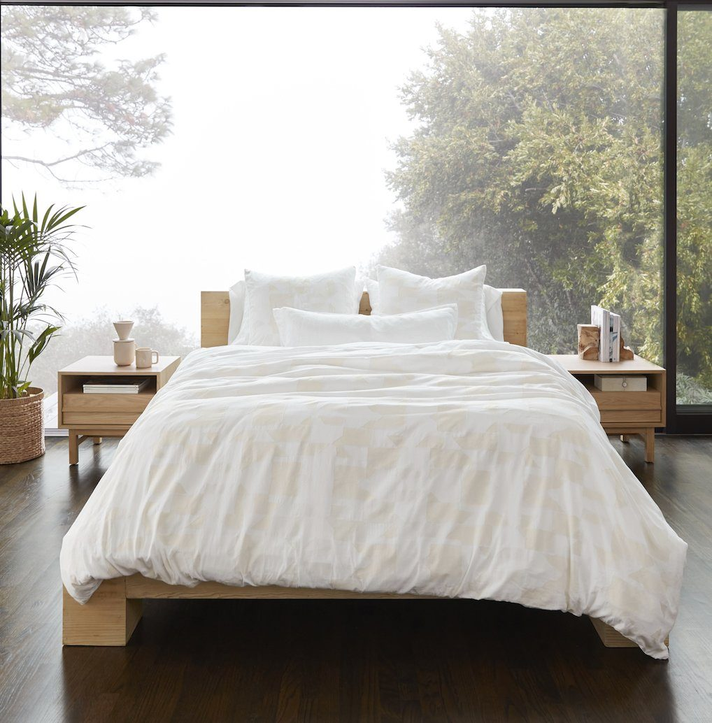 Inverness White & Natural Organic Bedding by Coyuchi