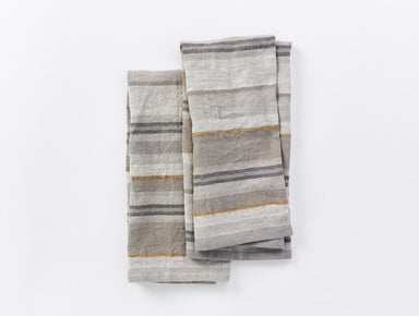 Mojave Gray Organic Linen Kitchen Towels by Coyuchi | Fig Linens