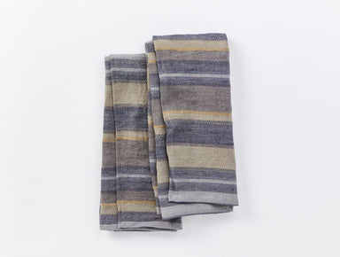 Mojave Indigo Organic Linen Kitchen Towels by Coyuchi | Fig Linens