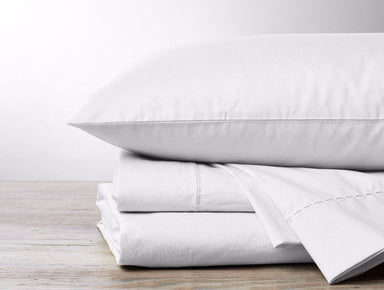 White 500 TC Organic Sateen Sheets by Coyuchi | Fig Linens
