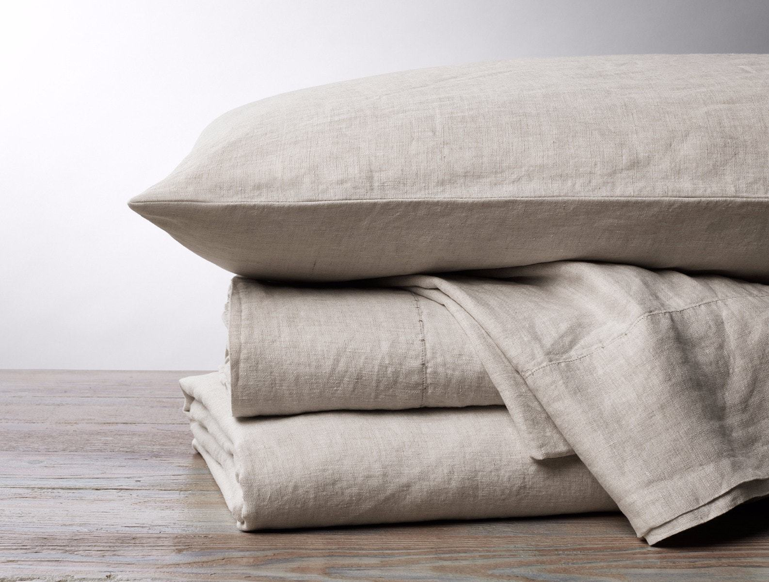 Natural Chambray Organic Relaxed Linen Bedding by Coyuchi