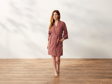 Solstice Rosehip Organic Kimono Robe by Coyuchi | Fig Linens