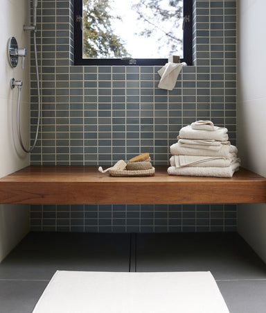 Fig Linens - Temescal Undyed Organic Bath Towels by Coyuchi - Lifestyle