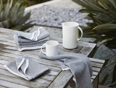 Fig Linens - Shadow Organic Waffle Kitchen Towels by Coyuchi - Lifestyle
