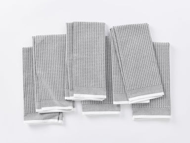 Shadow Organic Waffle Kitchen Towels by Coyuchi | Fig Linens