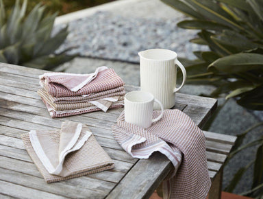 Fig Linens - Prairie Organic Waffle Kitchen Towels by Coyuchi