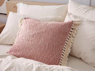 Fig Linens - Abbott Rosehip Organic Pillow Cover by Coyuchi - Lifestyle