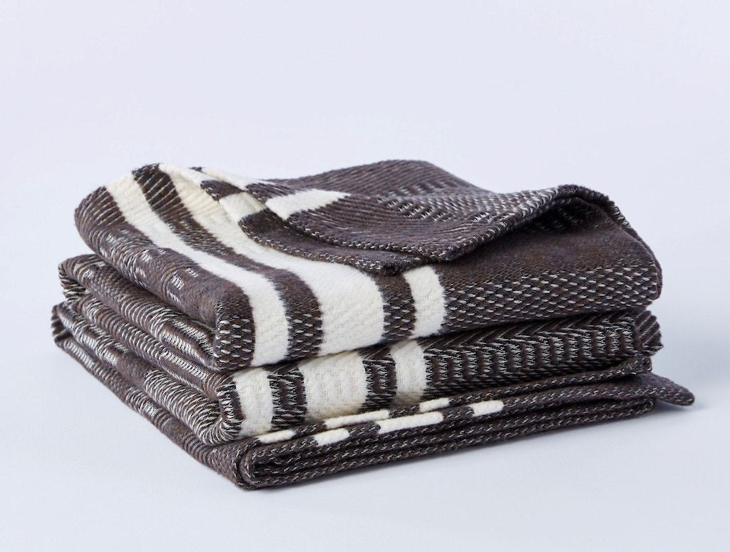 Cirrus Espresso Organic Throw by Coyuchi | Fig Linens and Home