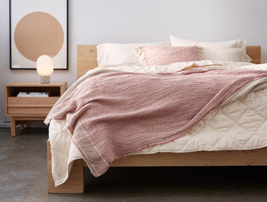 Fig Linens - Topanga Rosehip Organic Throw by Coyuchi - Lifestyle