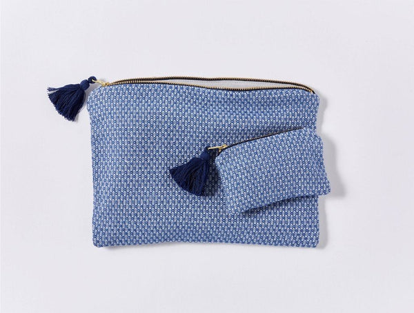 Mediterranean Lake Organic Pouch Set by Coyuchi | Fig Linens