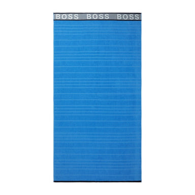 Blue Striped Logo Beach Towel by Hugo Boss | Fig Linens and Home