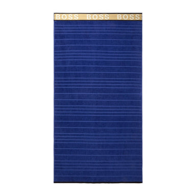 Marine Striped Logo Beach Towel by Hugo Boss | Fig Linens and Home