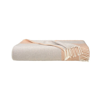 Coast Peach Throw by Hugo Boss | Fig Linens and Home