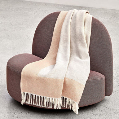 Fig Linens - Coast Peach Throw by Hugo Boss  - Lifestyle