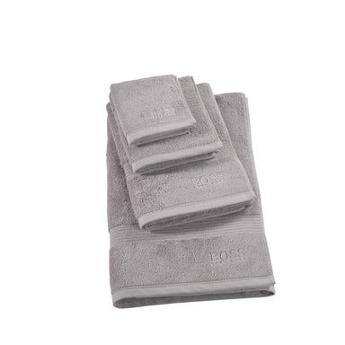 Loft Silver Bath Towels by Hugo Boss | Fig Linens and Home