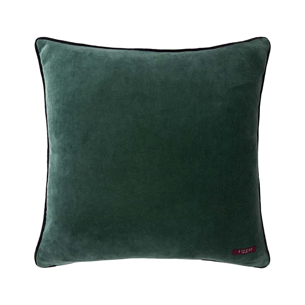 Fig Linens - Iosis Decorative Pillows - Bayou Vert Pillow - Solid Reverse