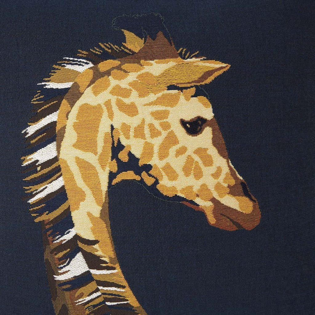 Fig Linens-Harriet Nuit Giraffe Decorative Pillow by Iosis - Back