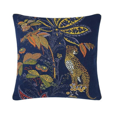 Fig Linens - Iosis Decorative Pillow - Indienne Nuit Cheetah Throw Pillow