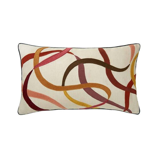 Liesse Amarante Lumbar Pillow by Iosis | Fig Linens and Home