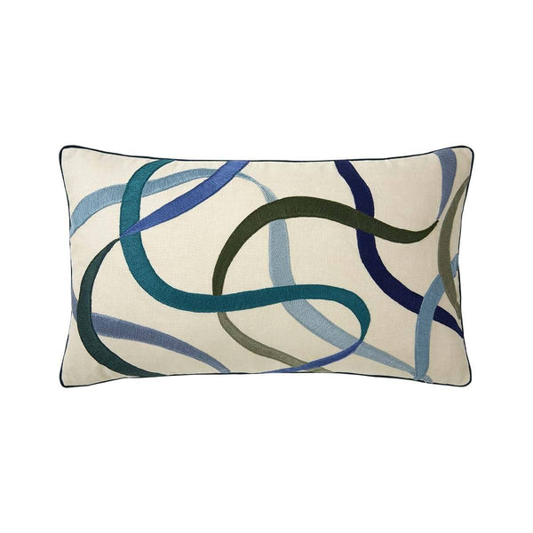 Fig Linens - Liesse Jade Lumbar Pillow by Iosis