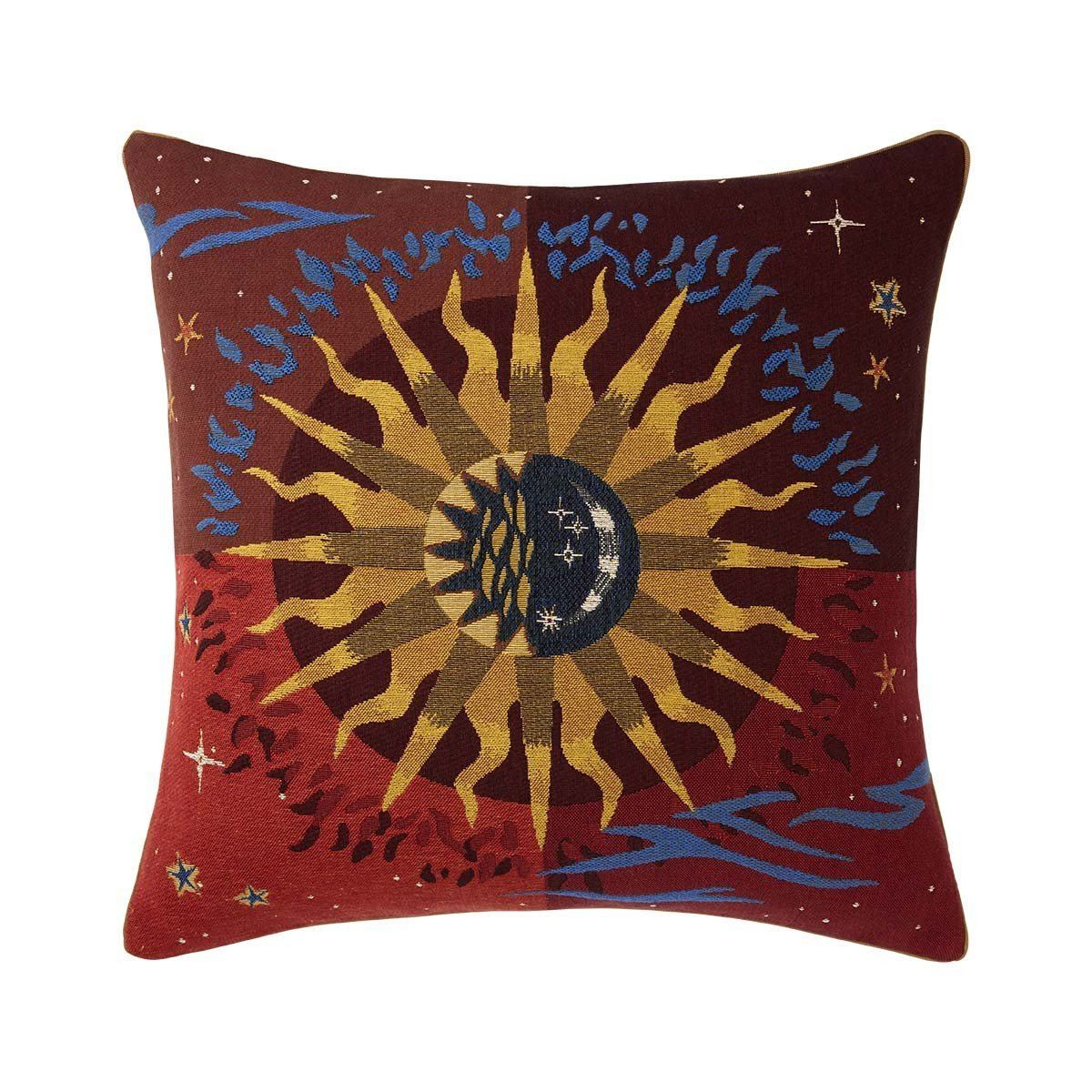 Soleil Rubis Decorative Pillow by Iosis