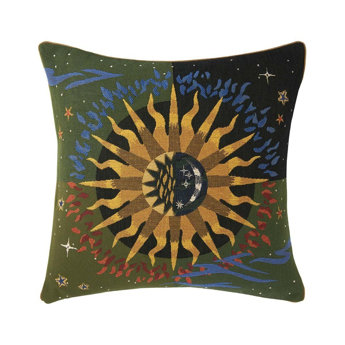 Soleil Vert Decorative Pillow by Iosis