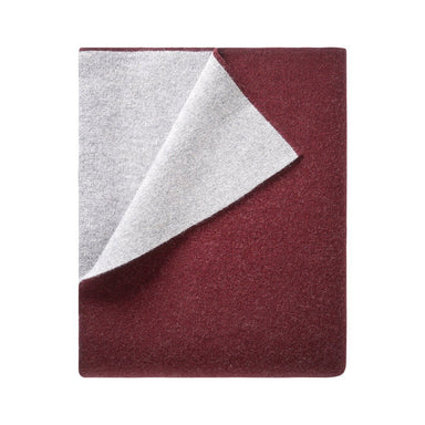 Verso Medoc Burgundy Throw by Iosis | Fig Linens and Home