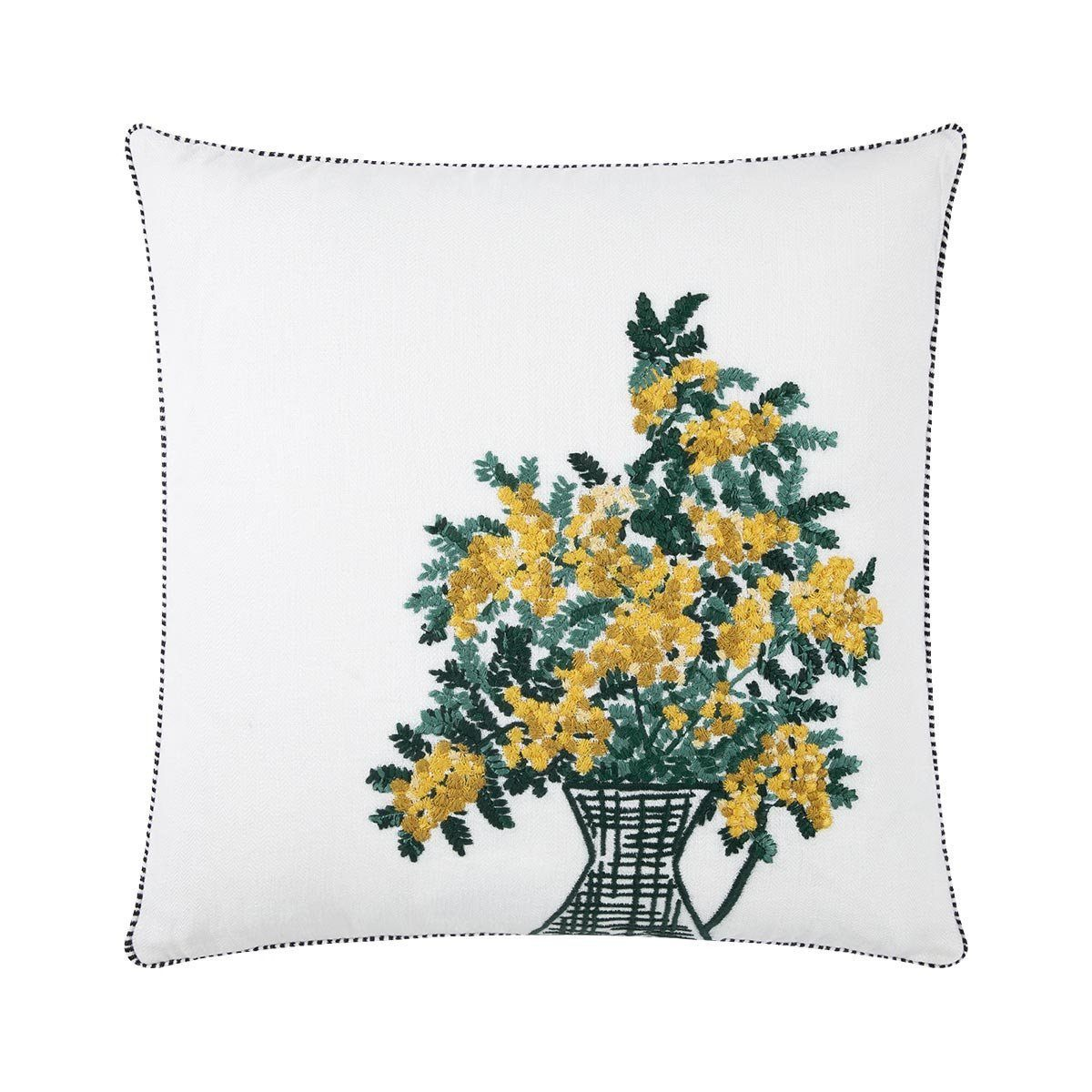 Mimosa Blanc Decorative Pillow by Iosis