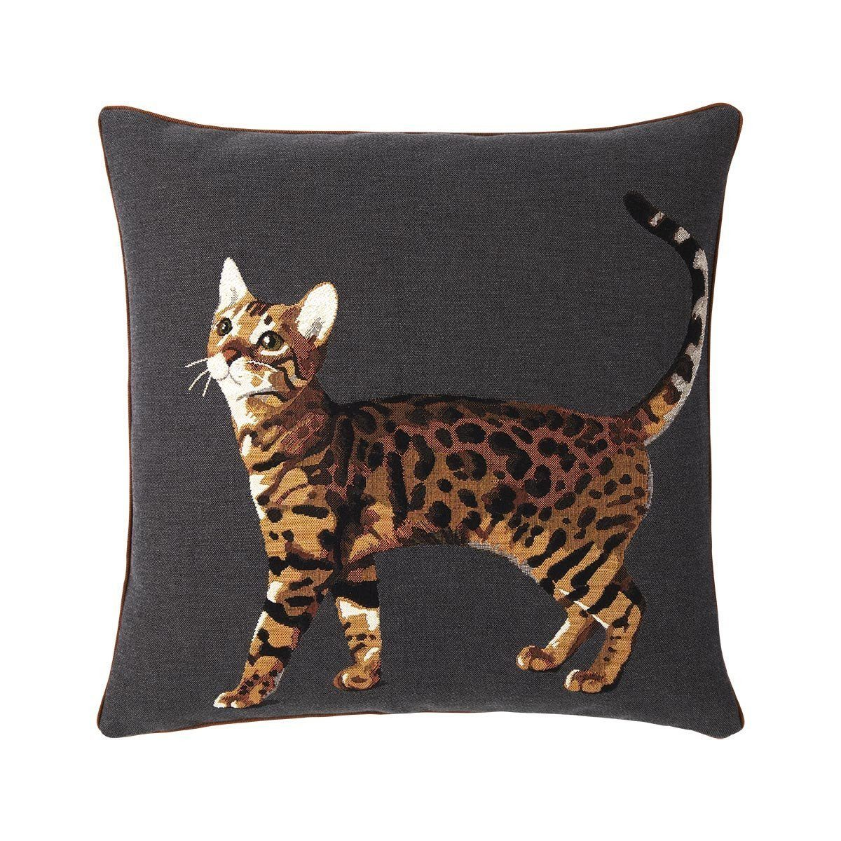 Bengal Carbon Decorative Pillow by Iosis