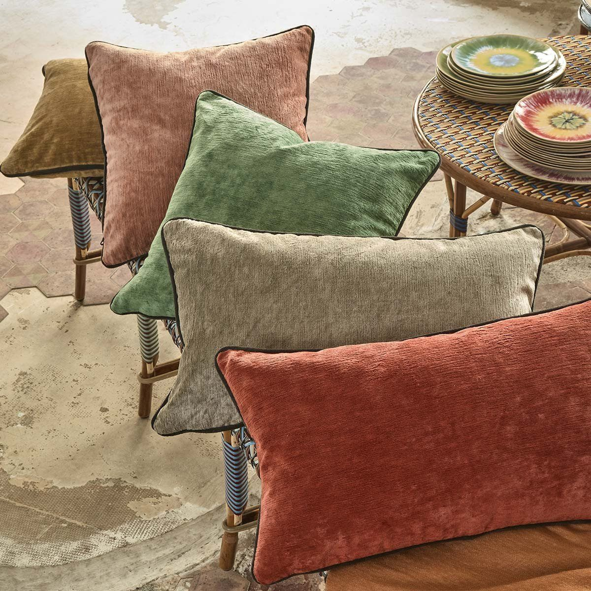 Fig Linens - Boromee Decorative Pillows by Iosis
