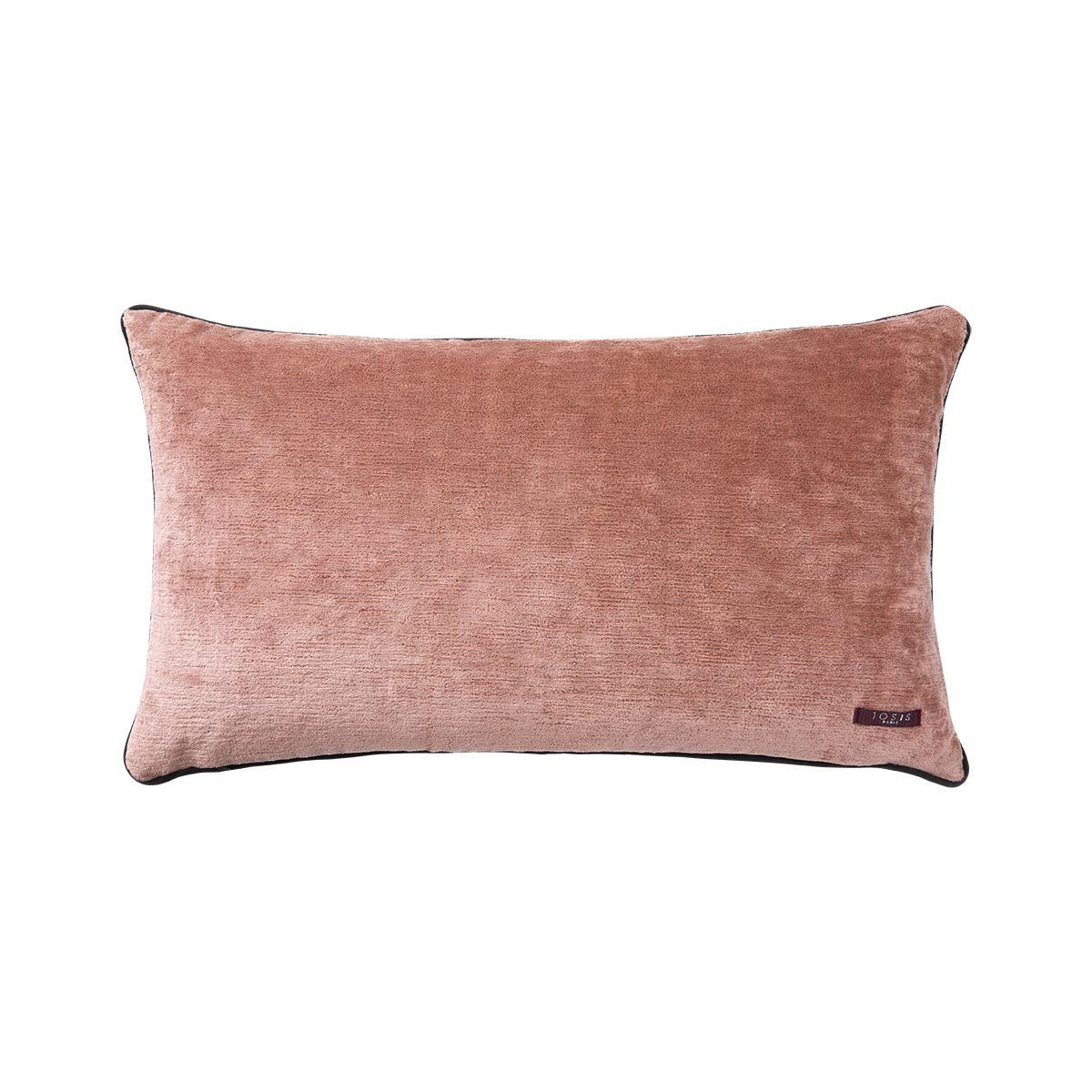 Fig Linens - Boromee Cedre Lumbar Pillow by Iosis - Linen back