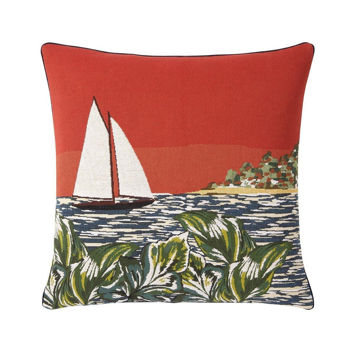 Libertad Corail Decorative Pillow by Iosis