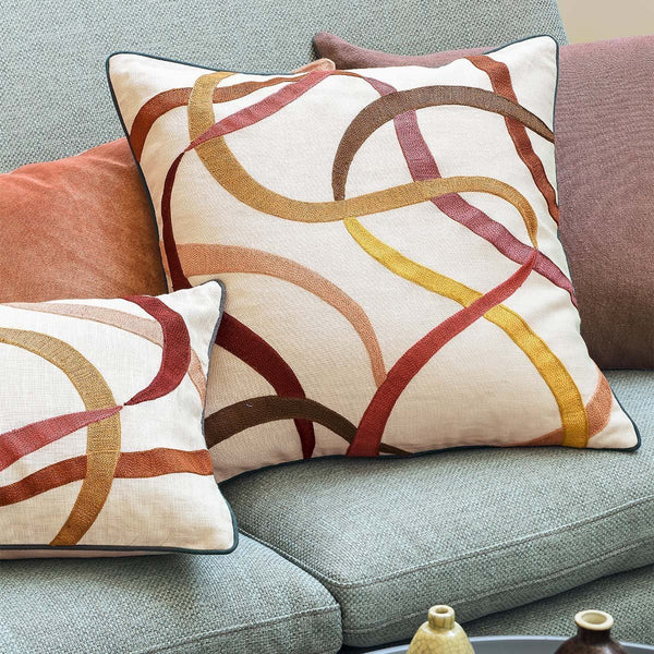 Fig Linens - Liesse Amarante Decorative Pillows by Iosis