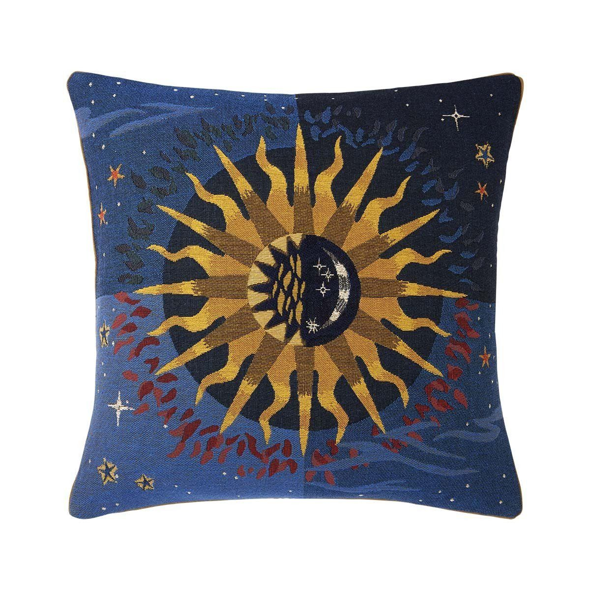 Soleil Nuit Decorative Pillow by Iosis