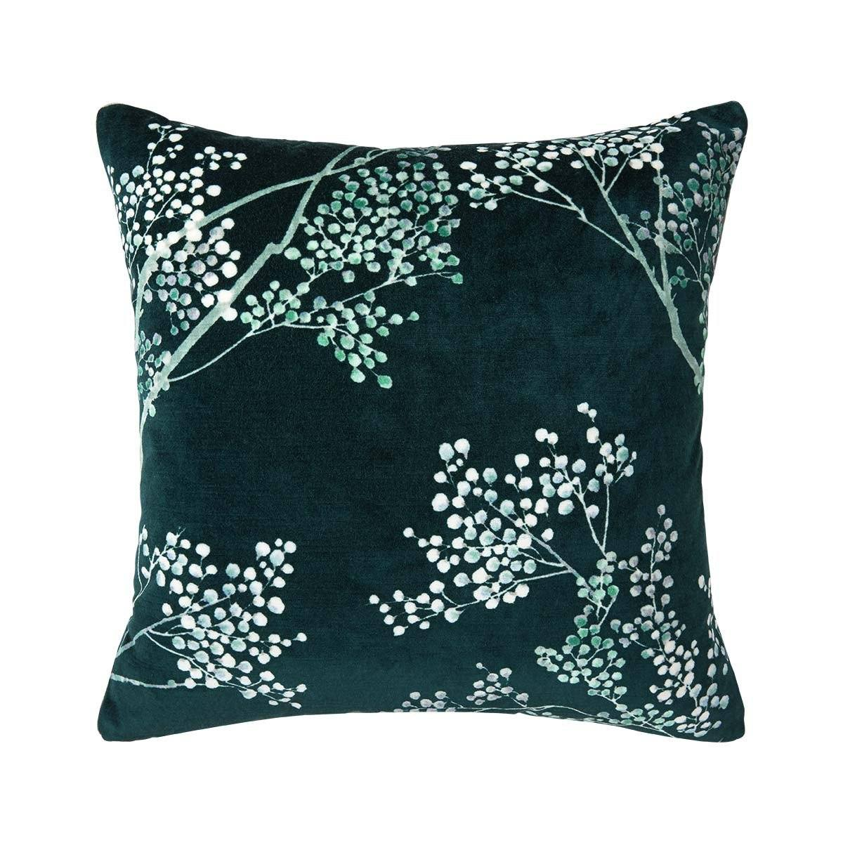Sous La Lune Paon Decorative Pillow by Iosis