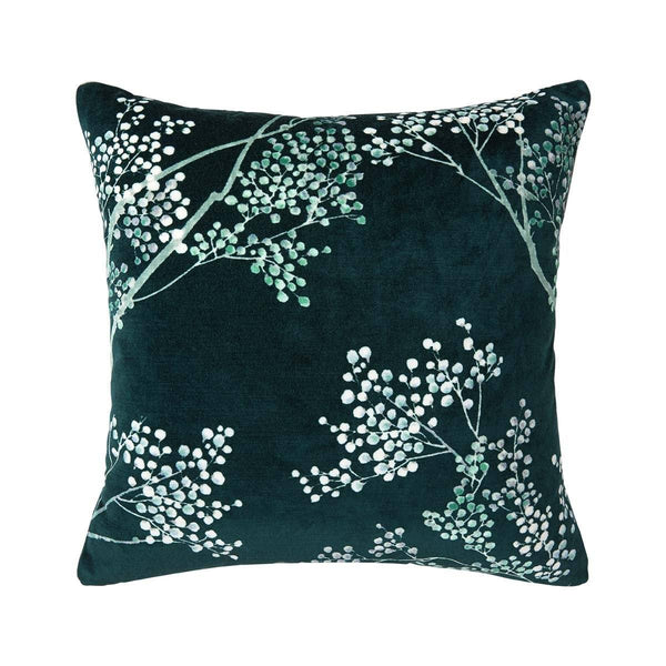 Sous La Lune Paon Decorative Pillow by Iosis | Fig Linens and Home
