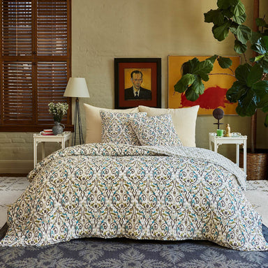 Pahi Moss Quilt & Shams by John Robshaw | Fig Linens and Home