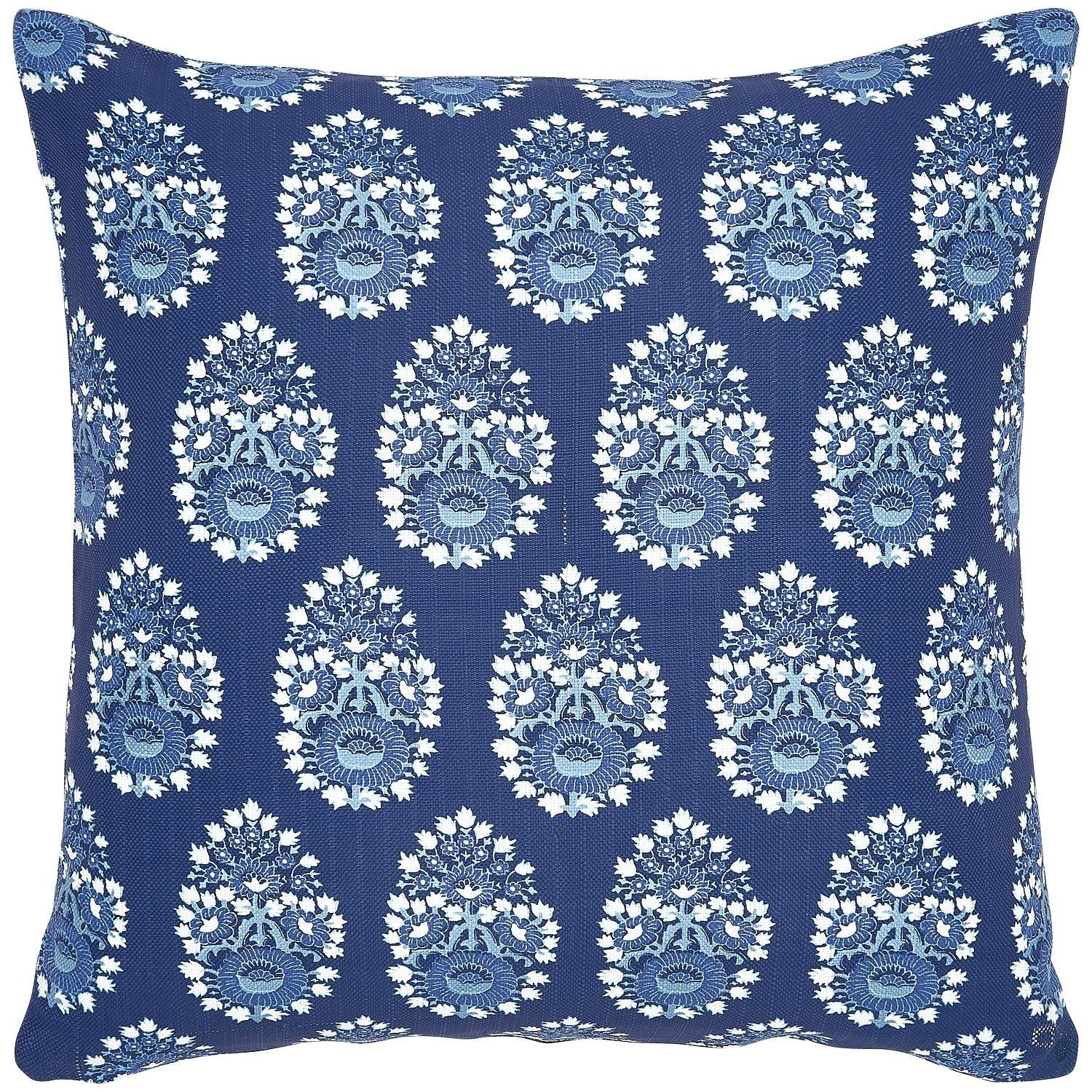 Diwan Indigo Outdoor Pillow by John Robshaw | Fig Linens and Home