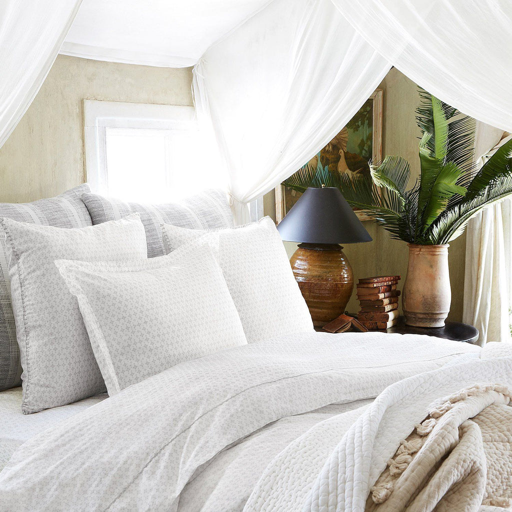 Pataka Gray Bedding by John Robshaw | Fig Linens and Home